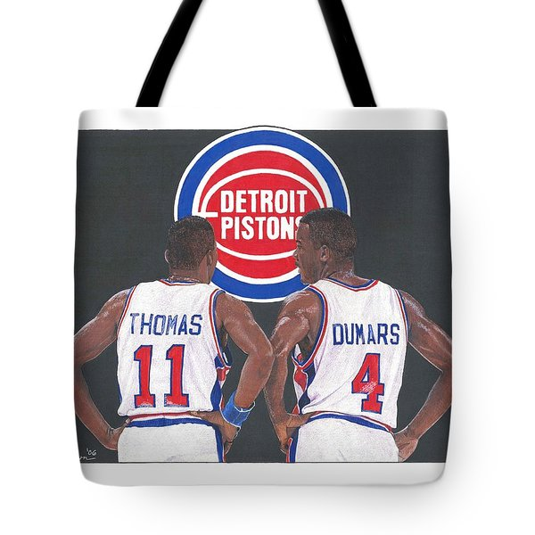 Isiah Thomas And Joe Dumars Tote Bag