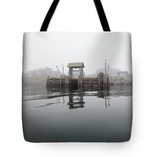 Island Boat Dock Tote Bag
