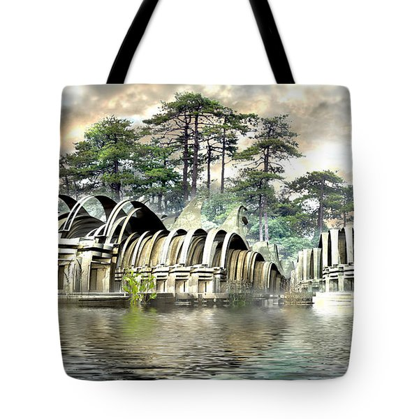 Island Bungalows Tote Bag