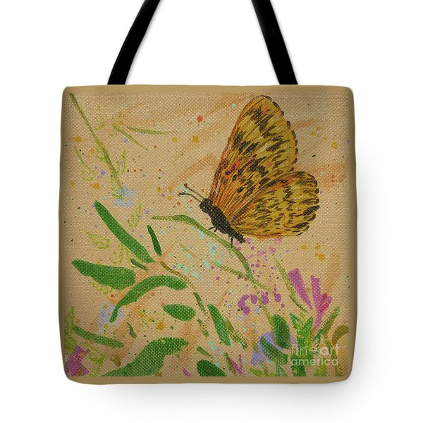Island Butterfly Series 4 Of 6 Tote Bag