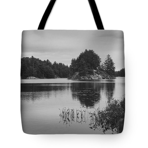 Island-carlyle Lake-killarney-bw Tote Bag