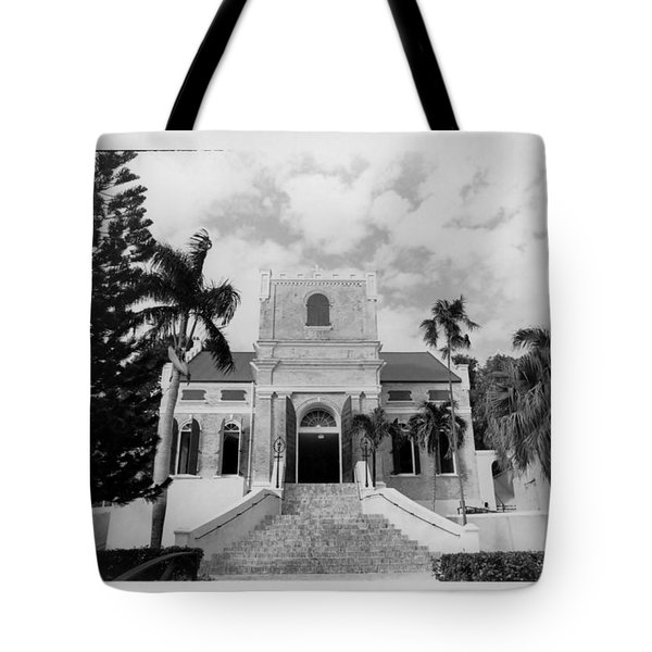 Island Church  Tote Bag