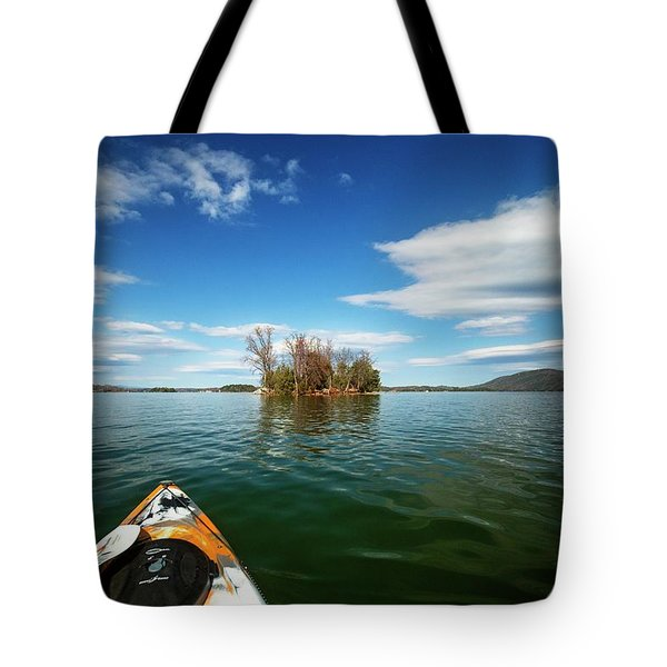 Tote Bag featuring the photograph Island Destination by Alan Raasch