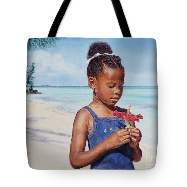 Island Flowers Tote Bag