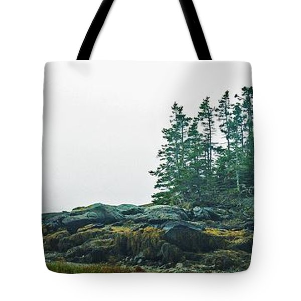 Tote Bag featuring the photograph Island, Fog by Christopher Mace