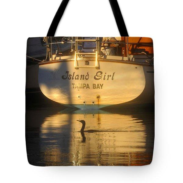 Island Girl Tote Bag by David Lee Thompson