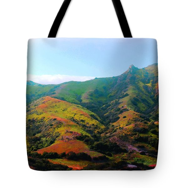 Island Hills Tote Bag by Timothy Bulone