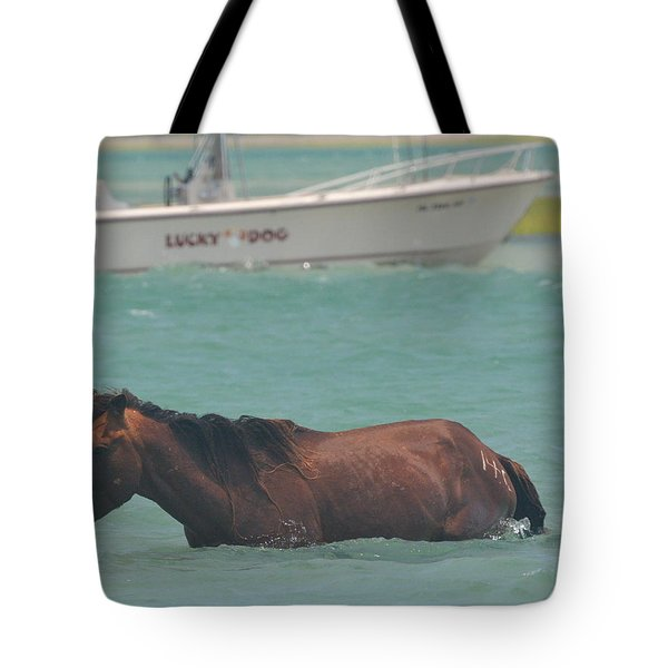 Island Horse Tote Bag