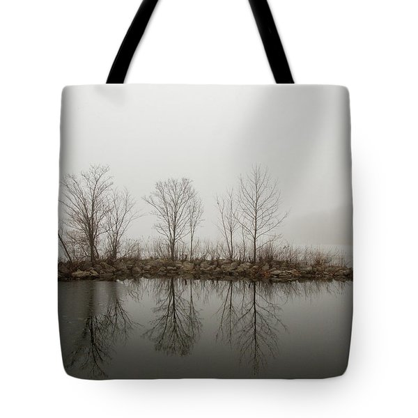 Island In The Fog Tote Bag
