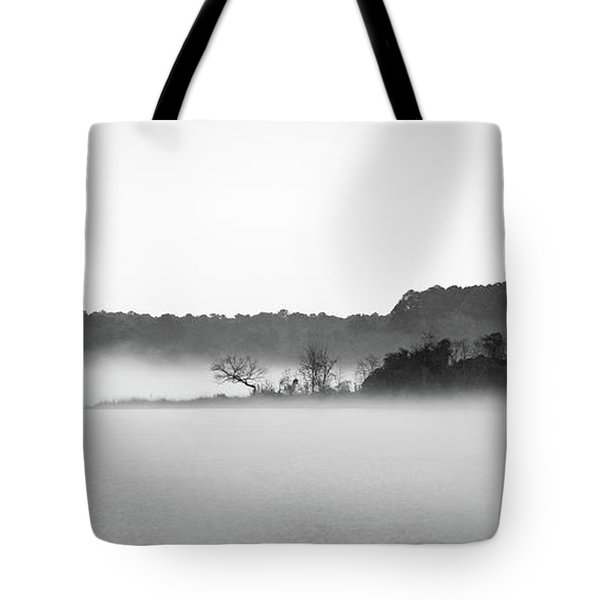 Tote Bag featuring the photograph Island In The Fog by Todd Aaron