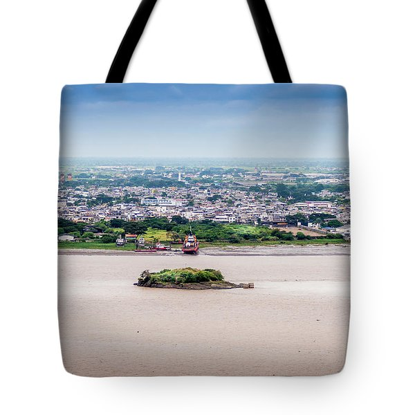 Island In The River Tote Bag