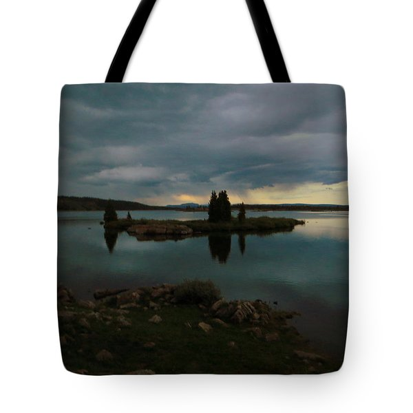 Island In The Storm Tote Bag by Karen Shackles