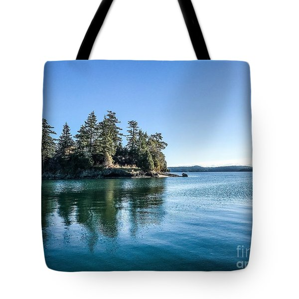 Island In West Sound Tote Bag