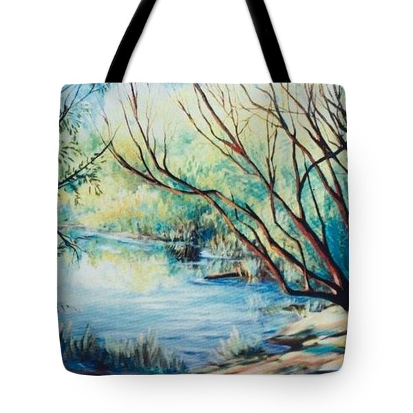 Island Lake Tote Bag