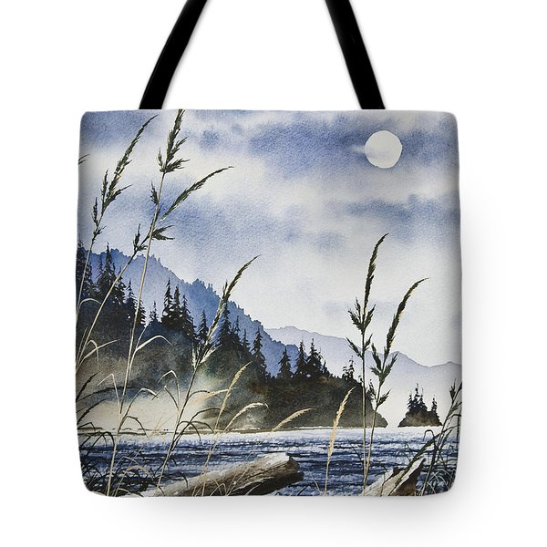 Island Moon Tote Bag by James Williamson