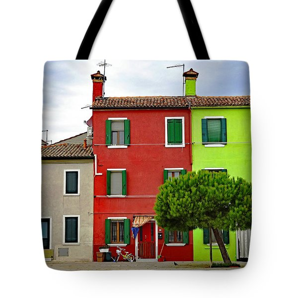 Island Of Burano Tranquility Tote Bag