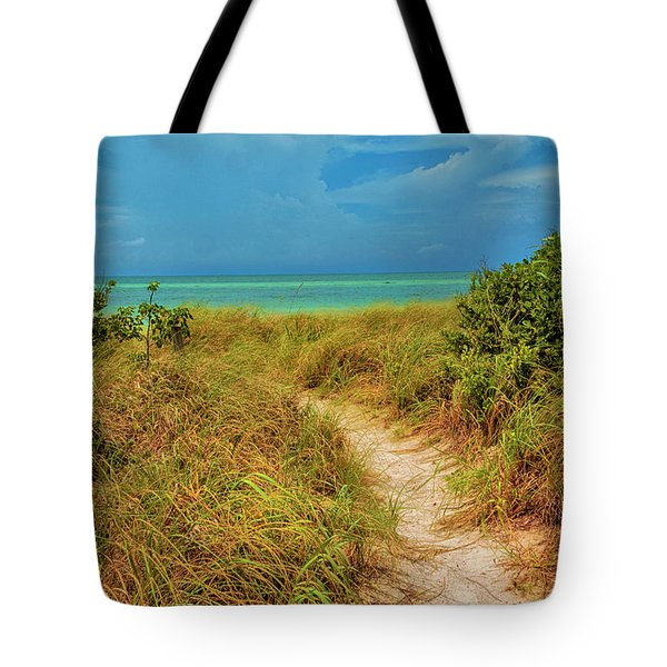 Island Path Tote Bag by Swank Photography