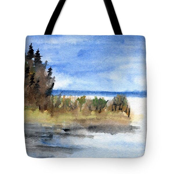 Island Point Tote Bag by R Kyllo