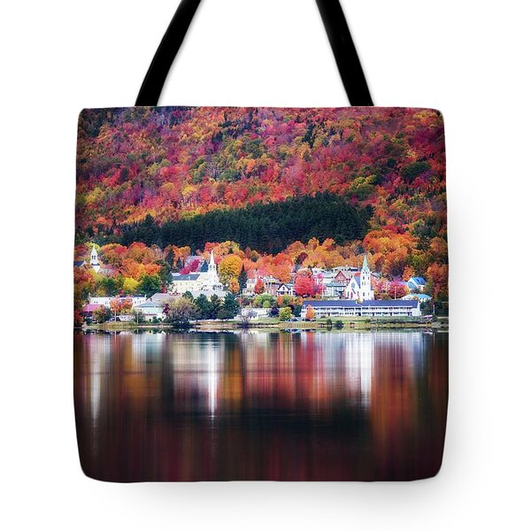 Island Pond Vermont Tote Bag by Sherman Perry