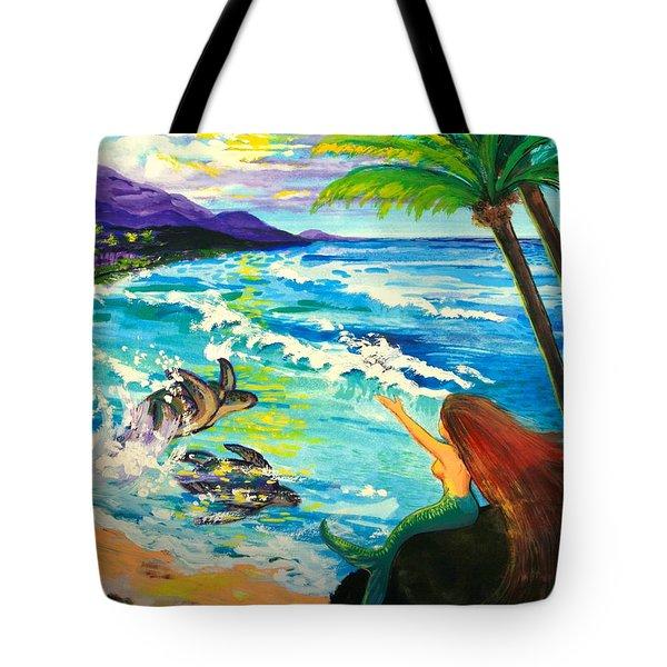 Island Sisters Tote Bag by Karon Melillo DeVega