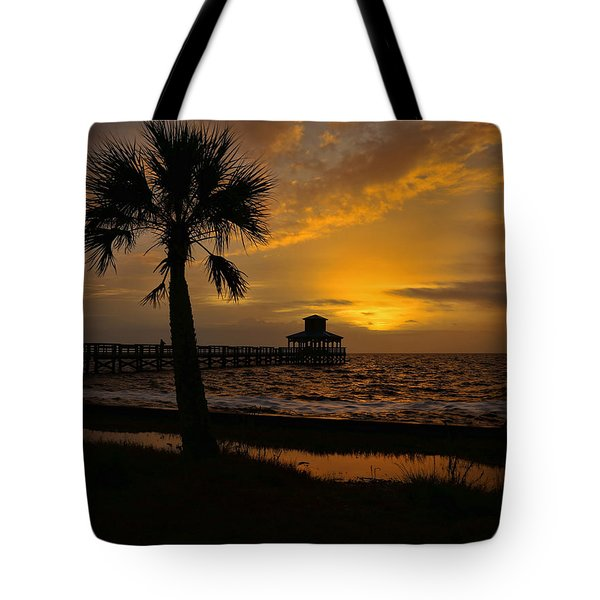 Island Sunrise Tote Bag by Judy Vincent