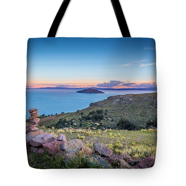 Tote Bag featuring the photograph Island Sunset by Gary Gillette
