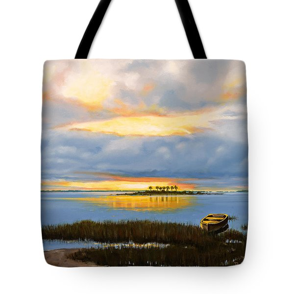 Island Sunset Tote Bag by Rick McKinney