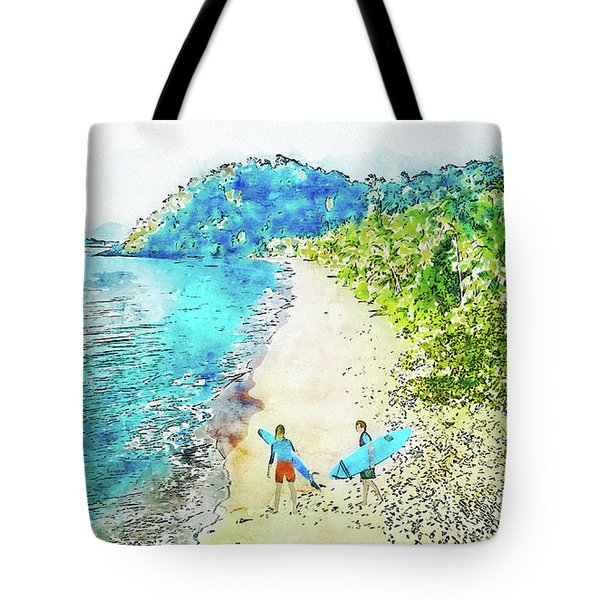 Island Surfers Tote Bag