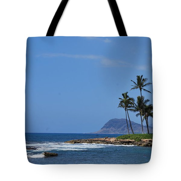 Tote Bag featuring the photograph Island View by Amee Cave