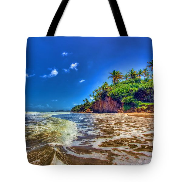 Island Wave Tote Bag