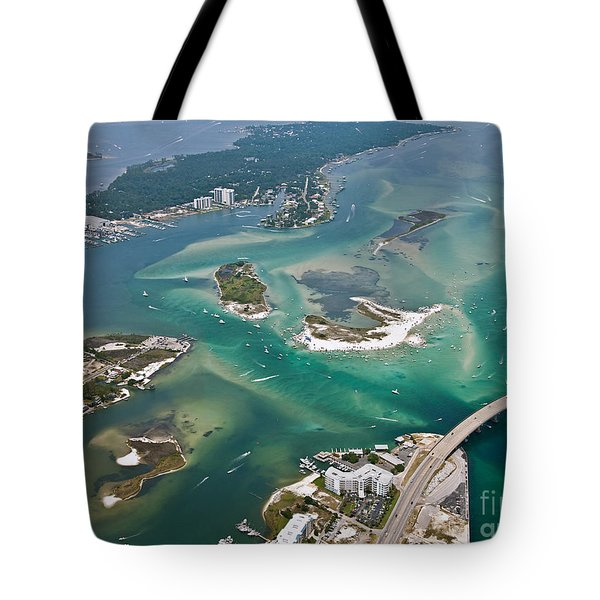 Tote Bag featuring the photograph Islands Of Perdido - Not Labeled by Gulf Coast Aerials -