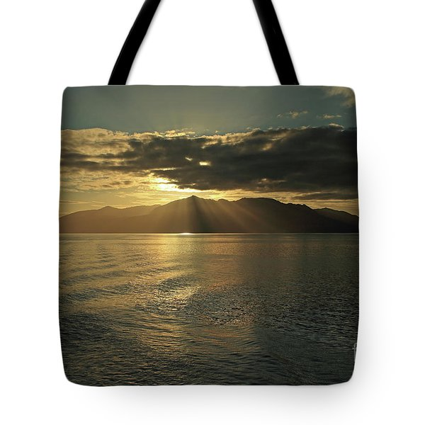 Isle Of Arran At Sunset Tote Bag