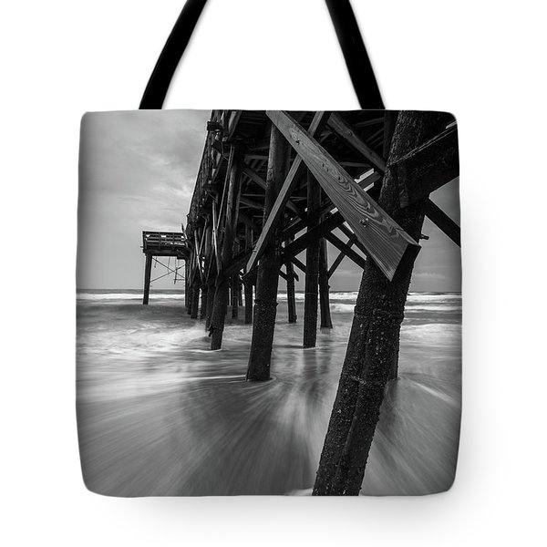 Isle Of Palms Pier Water In Motion Tote Bag