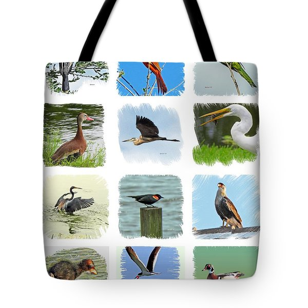 Isles Birds Collage Tote Bag