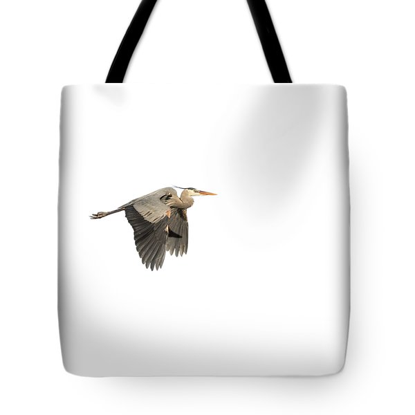 Tote Bag featuring the photograph Isolated Great Blue Heron 2015-5 by Thomas Young