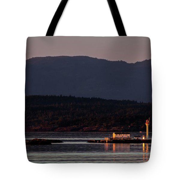 Isolated Lighthouse Tote Bag