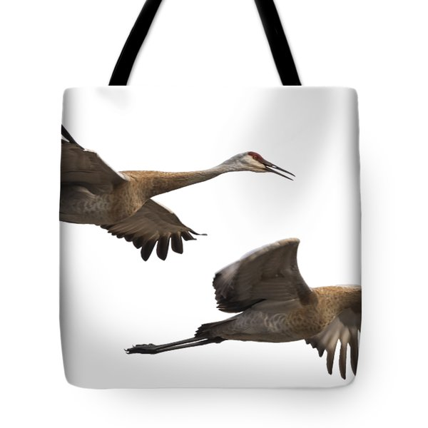Isolated Sandhill Cranes 2016-1 Tote Bag