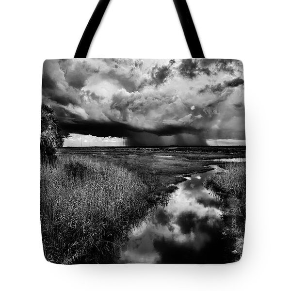Isolated Shower - Bw Tote Bag