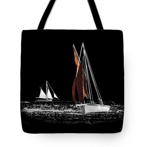 Isolated Yacht Carrick Roads On A Transparent Background Tote Bag