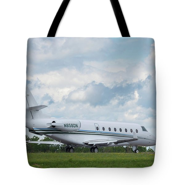 Tote Bag featuring the photograph Israel Aircraft Industries Galaxy 2 by Guy Whiteley