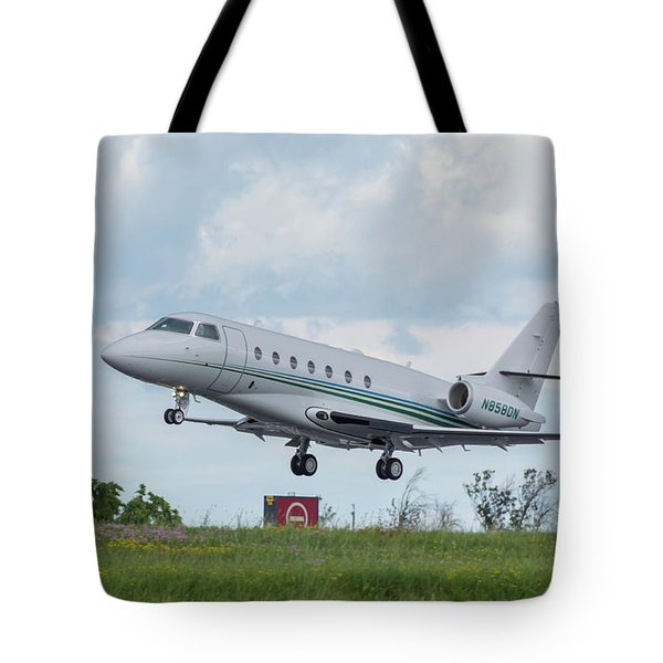 Tote Bag featuring the photograph Israel Aircraft Industries Galaxy 3 by Guy Whiteley