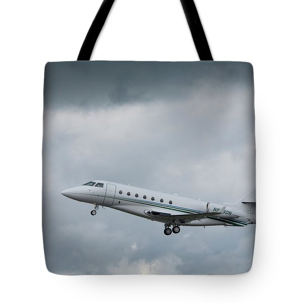 Tote Bag featuring the photograph Israel Aircraft Industries Galaxy 4 by Guy Whiteley
