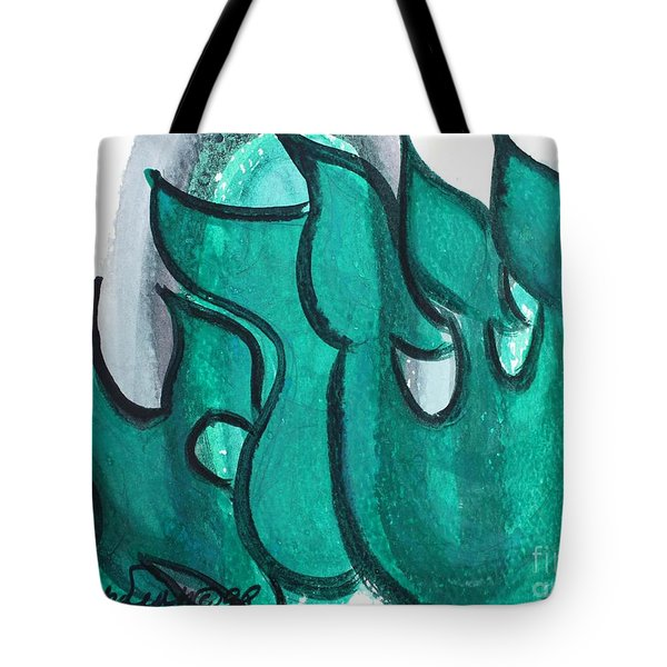 Tote Bag featuring the painting Israel Nm1-88 by Hebrewletters Sl