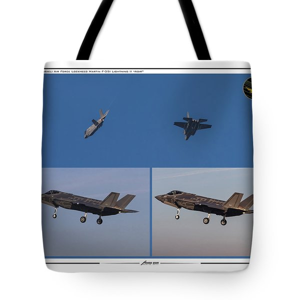 Israeli Air Force First Two F-35i Adir Tote Bag