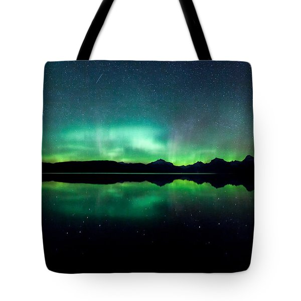 Tote Bag featuring the photograph Iss Aurora by Aaron Aldrich