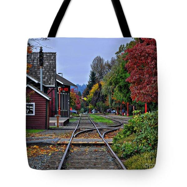 Issaquah Train Station Tote Bag