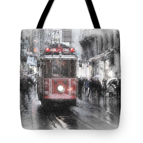 Istambool Historic Tram Tote Bag