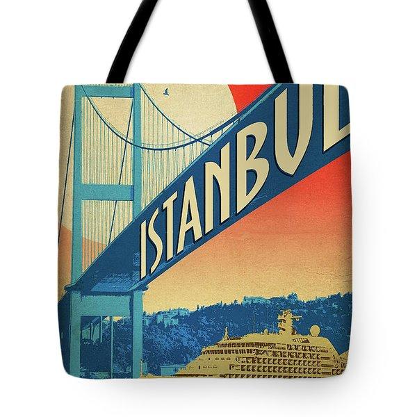 Istanbul, Bosporus Bridge, Cruiser Tote Bag