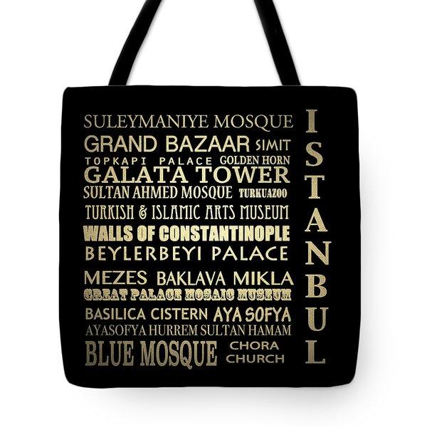 Istanbul Turkey Famous Landmarks Tote Bag