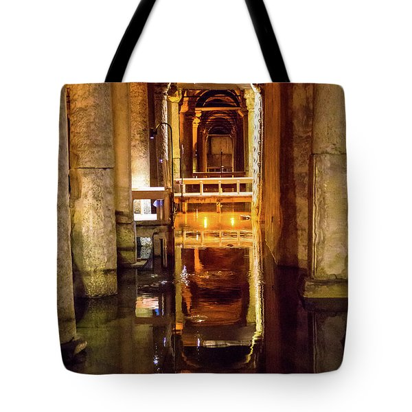 Istanbul Underground Cistern 3 Tote Bag